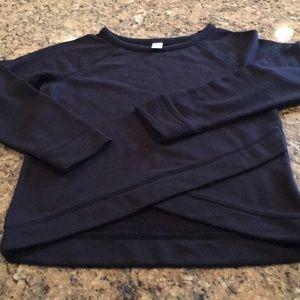 Other - NWOT Old Navy Girls curved/layer hem sweatshirt